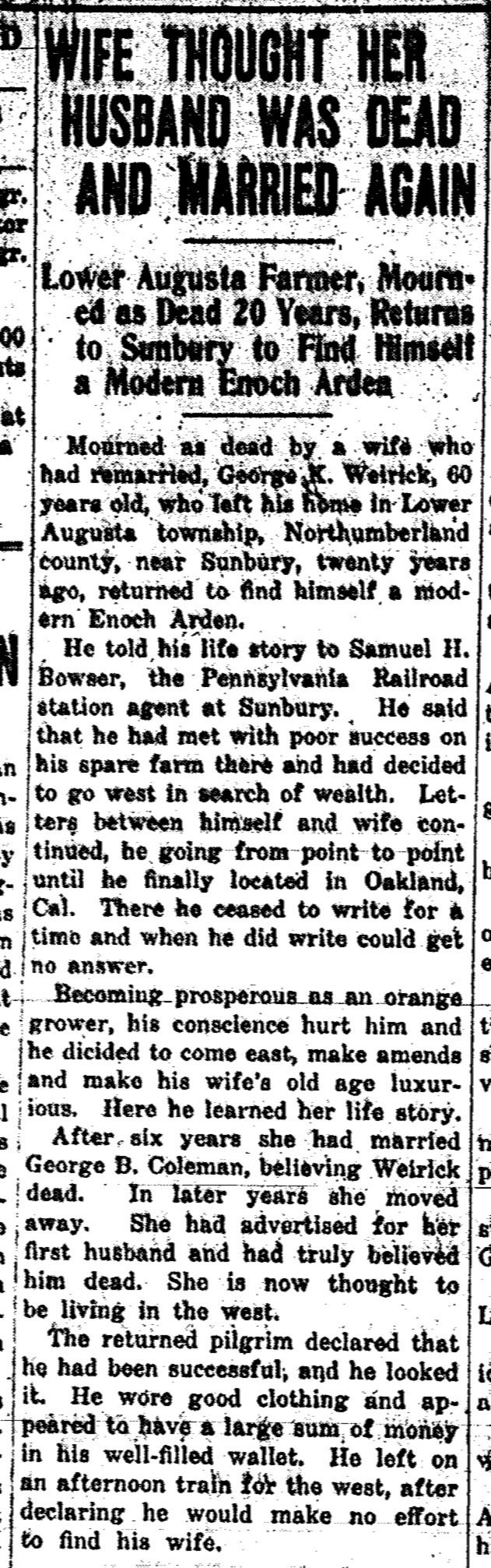 Source: Milton Evening Standard (November 19, 1914