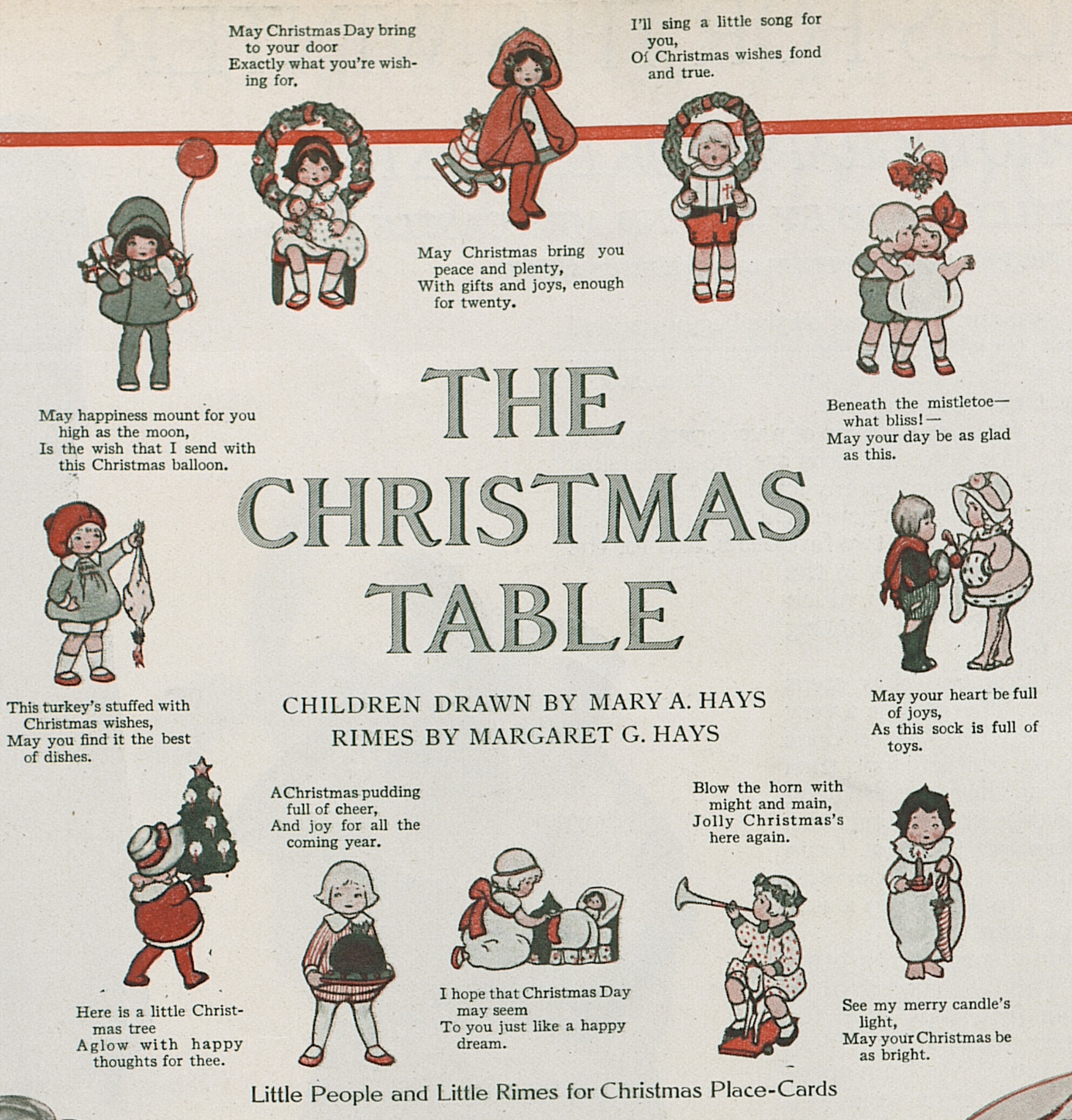 Hundred-year-old Christmas Place Card Ideas – A Hundred Years Ago