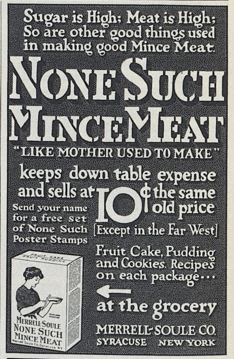 1914 None Such Mincemeat Advertisement