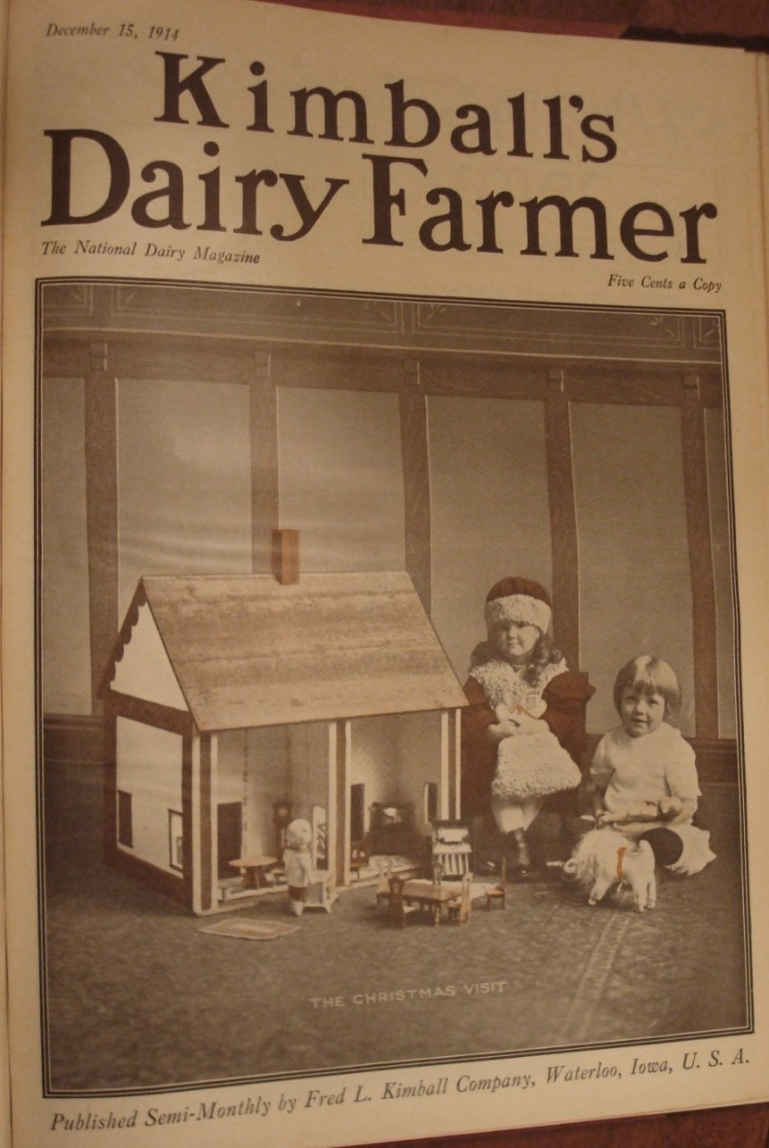 Cover of December 15, 1914 issue of Kimball's Dairy Farmer Magazine