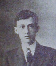Raymond Swartz (1915), Senior photo in the Milton High School Yearbook
