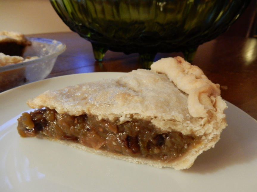 green tomato mince meat pie
