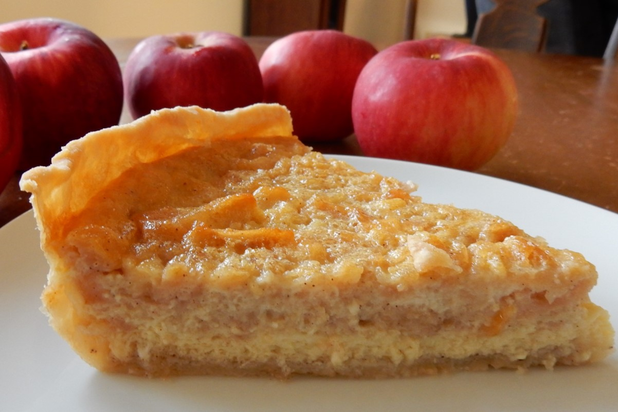 ... Apple Custard Pie. The delicate custard taste mingles with the apples