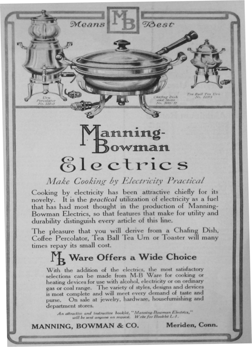 Manning-Bowman Electrics Advertisment