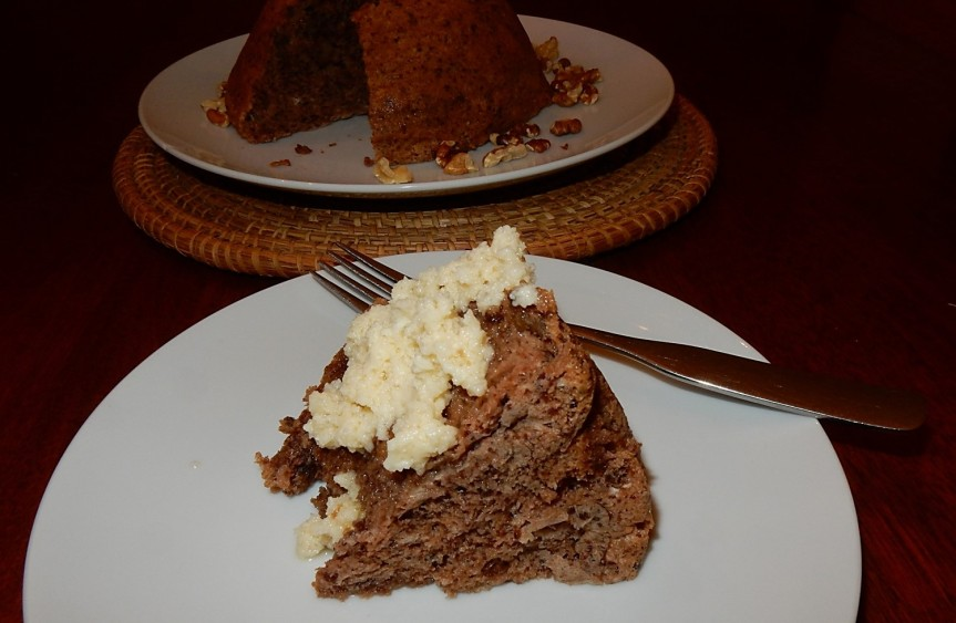 steamed chocolate nut pudding