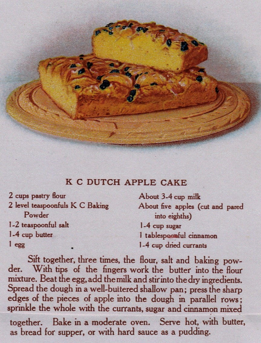 Source: The Cook's Book (K C Baking Powder, 1911)