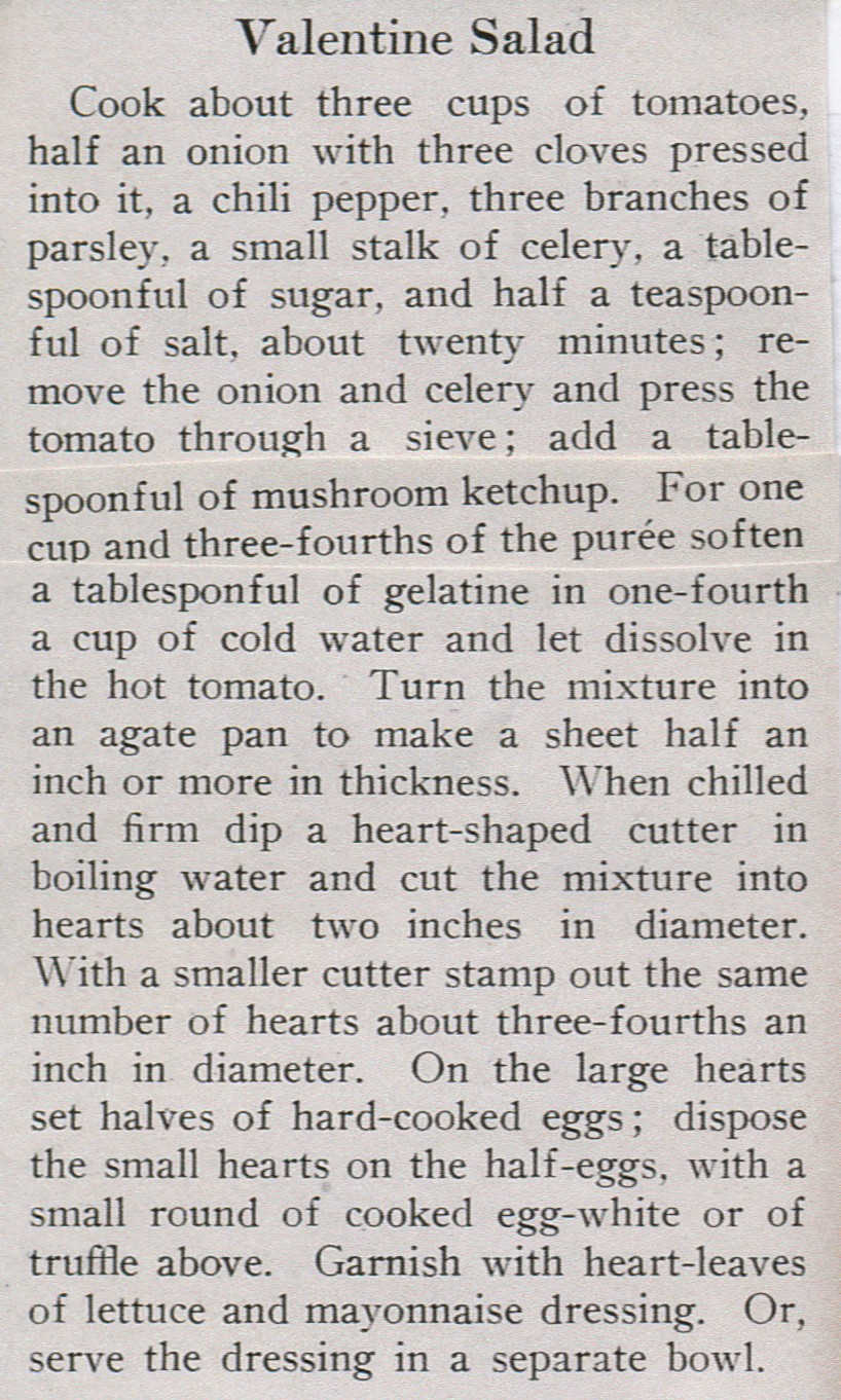 Source: Boston Cooking School Magazine (February, 1913)