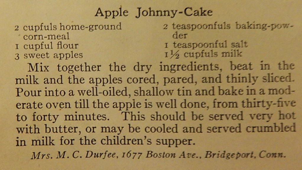 Hundred Year Old Recipe For Apple Johnny Cake Apple Corn