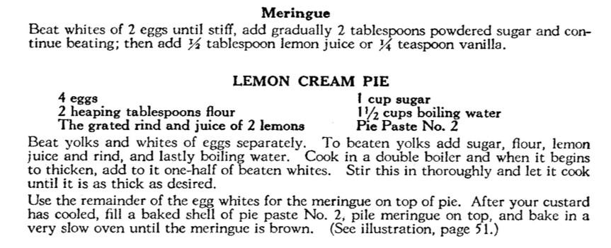 lemon cream pie recipe
