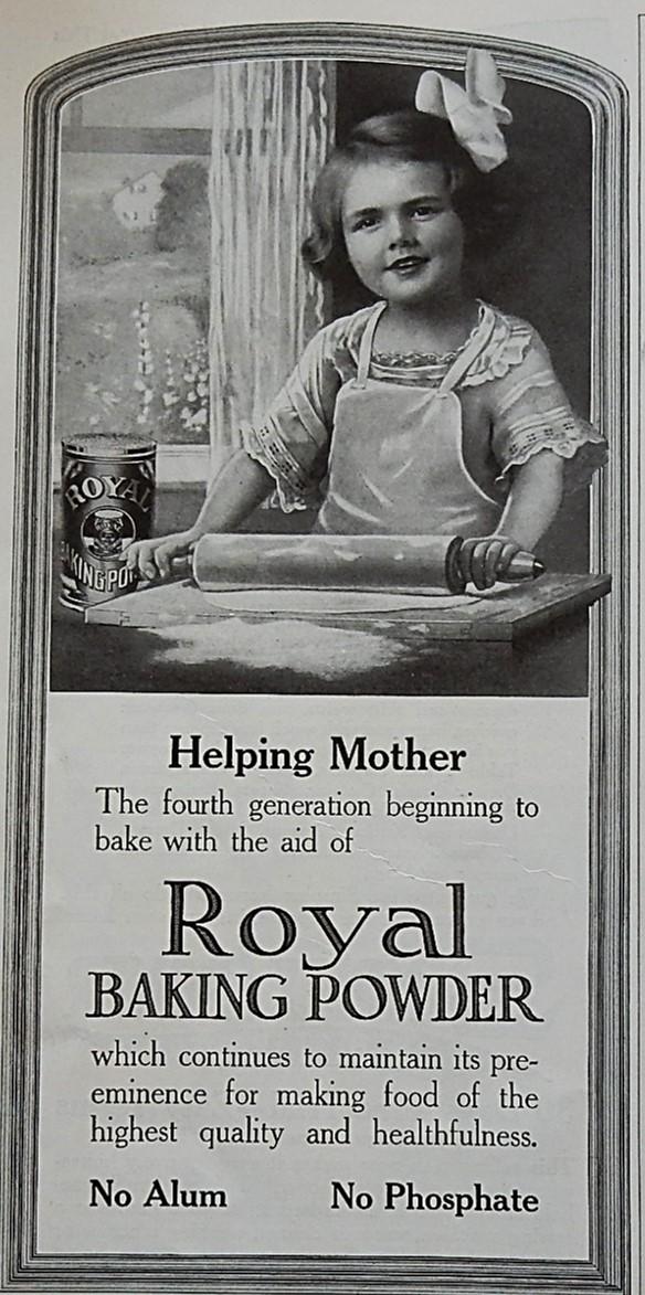 Advertising-print Advertising 1914 Royal Baking Powder Advertisement