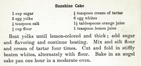 sunshine cake recipe