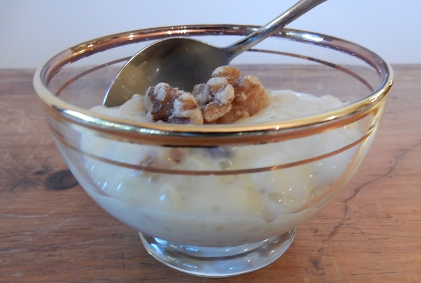 maple walnut tapioca pudding