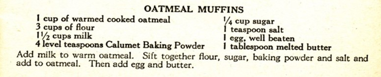 Source: Reliable Recipes (Published by Calumet Baking Powder Co., 1912)