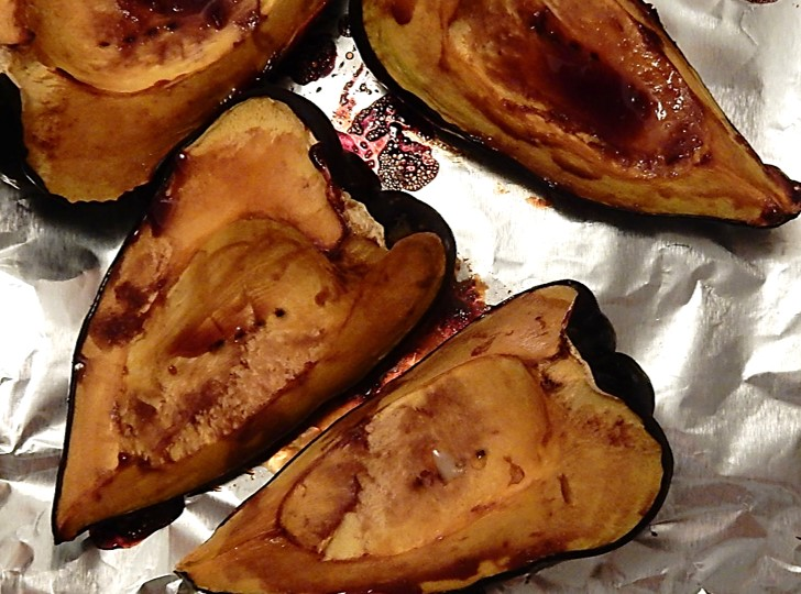 baked acorn squash with molasses