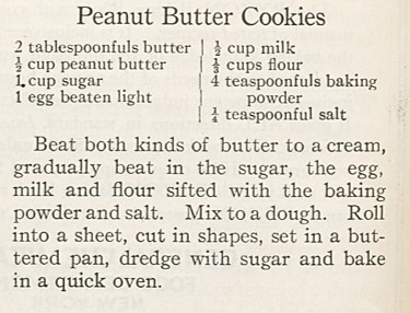 peanut butter cut-out cookies
