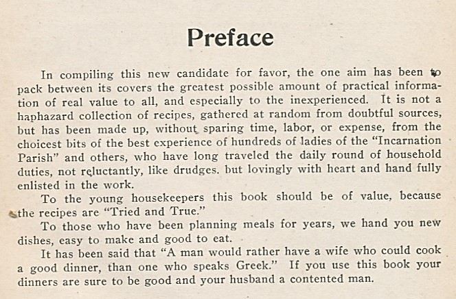 Source: Tried and True Cook Book, published by The Willing Workers, Minneapolis Incarnation Parish (1910)