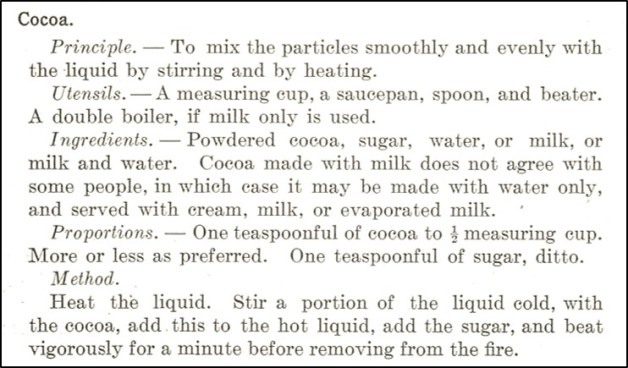 Source: Foods and Household Management: A Textbook of the Household Arts by Helen Kinne and Anna M. Cooley (1915)