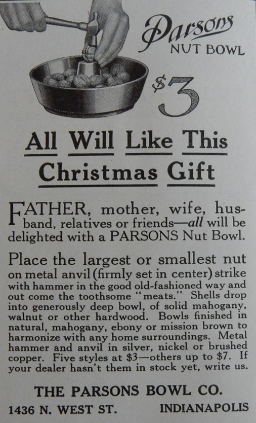 Parsons Nut Bowl Advertisement (Ladies Home Journal, December, 1916)