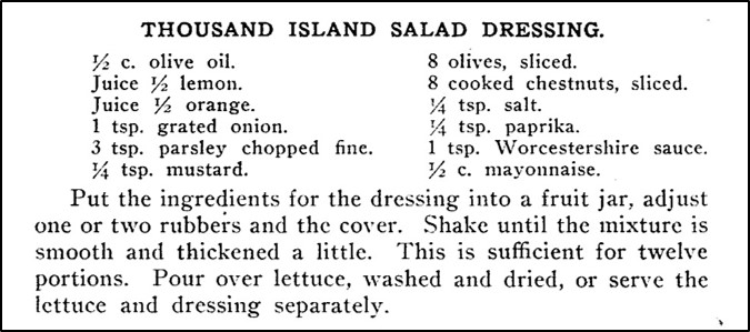 Old Fashioned Thousand Island Dressing Recipe A Hundred Years
