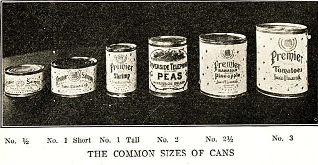 picture of various sizes of cans