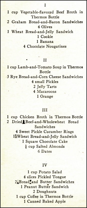 figure with boxed lunch menus