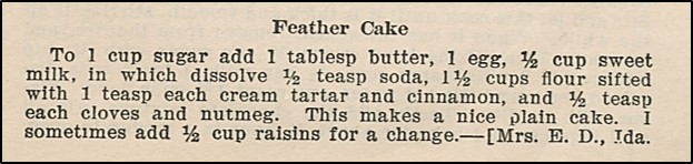 recipe for feather cake
