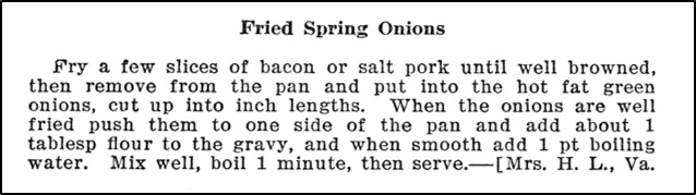 recipe for fried green onions