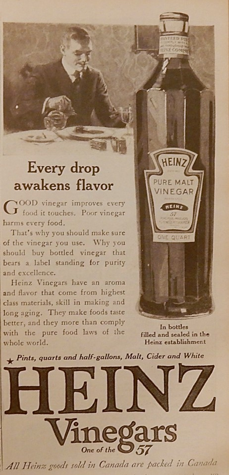 Advertisement for Heinz Vinegar