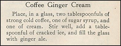 Recipe for Coffee Ginger Cream