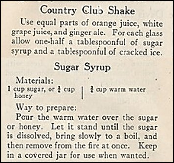 Recipe for Country Club Shake