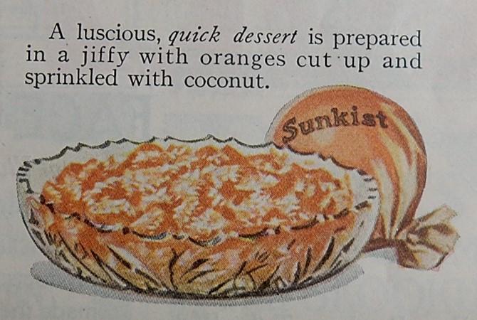 coconut and orange dessert image and recie