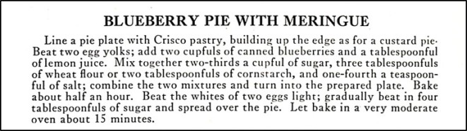 recipe for blueberry pie with meringue