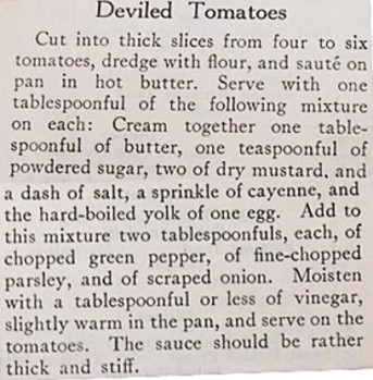 recipe for deviled tomatoes