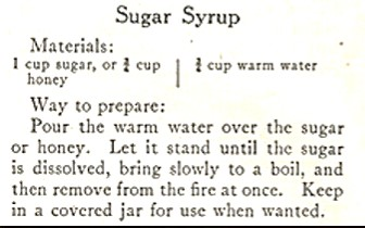 Recipe for Sugar Syrup