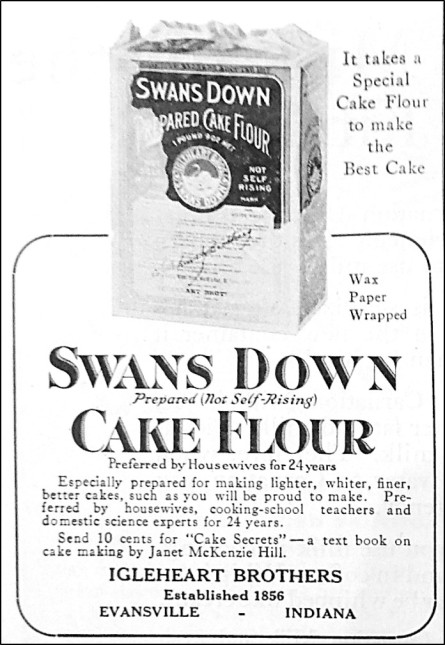image of box of cake flour in an advertisement