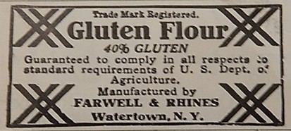 Advertisement for Gluten Flour