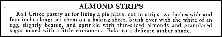 Recipe for Almond Strips