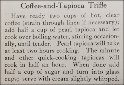 recipe for coffee and tapioca trifle