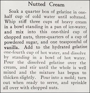 Nutted Cream Recipe