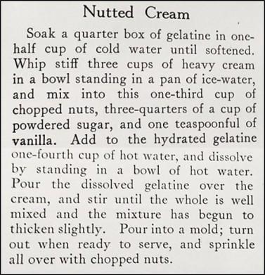Nutted Cream Recipe