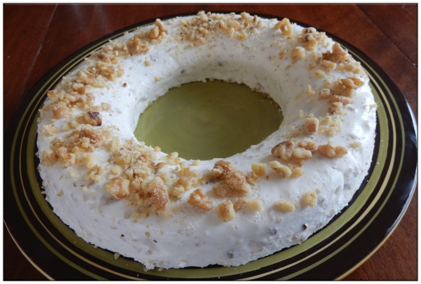 molded Nutted Cream on plate