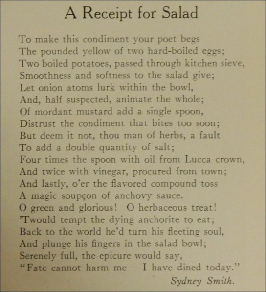 Poem About a Salad Recipe