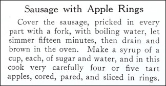 Recipe for Sausage with Apple Rings