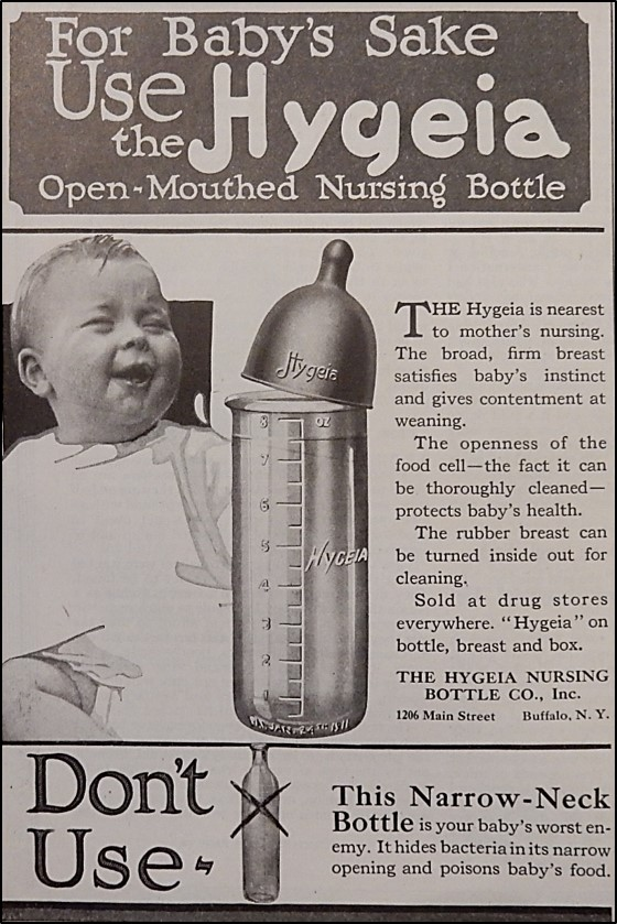 Hygeia Nursing Bottle Advertisement