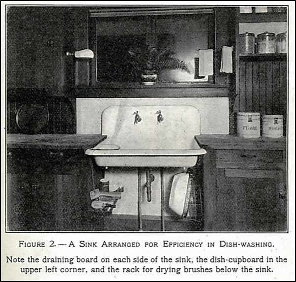 large old-fashioned kitchen sink