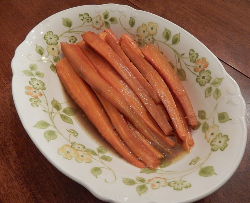 Braised Carrots in Serving Dish