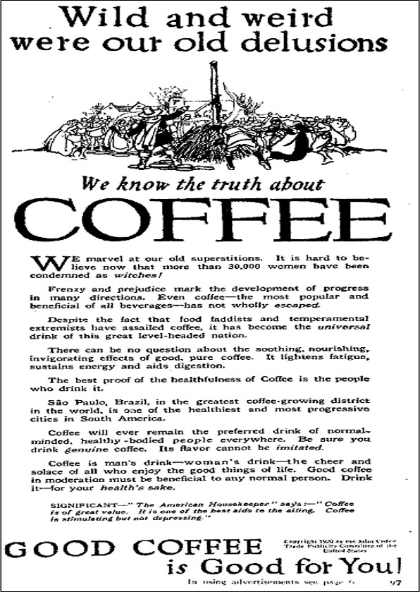 promotional advertisement for coffee