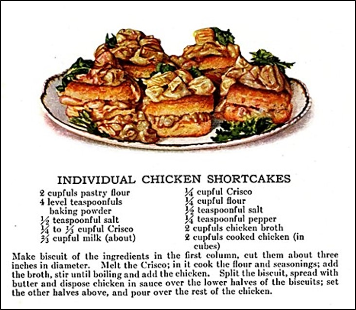 individual chicken shortcakes on plate