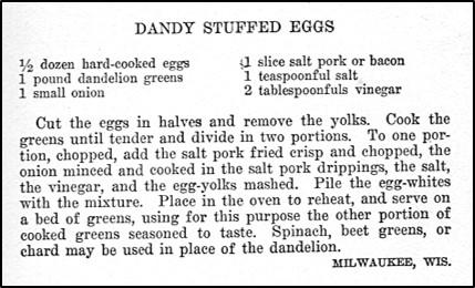 Recipe for Dandy Stuffed Eggs