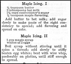 Two Recipes for Maple Icing